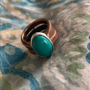 Barse that copper and turquoise ring